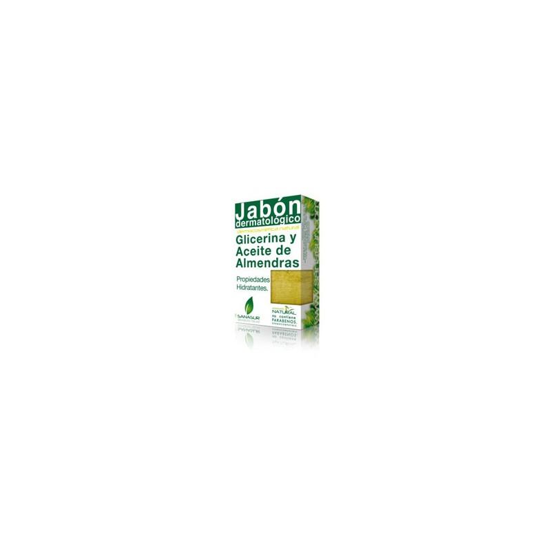 Jabón Glicerina Aceite de Almendras Sanasur, 100 gr.