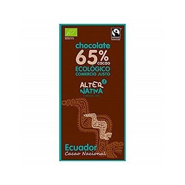Chocolate 65% Ecuador Bio, 80 gr.