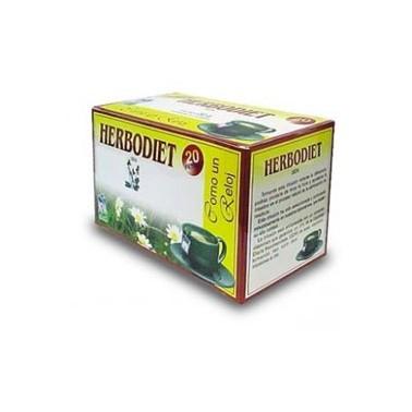 Herbodiet Infusión Como un Reloj Novadiet, 20 bolsitas filtro