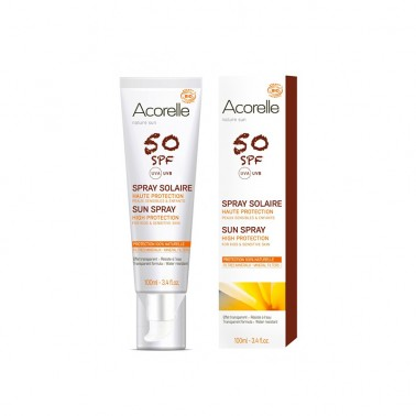 Spray Solar SPF50 BIO Acorelle, 100 ml.