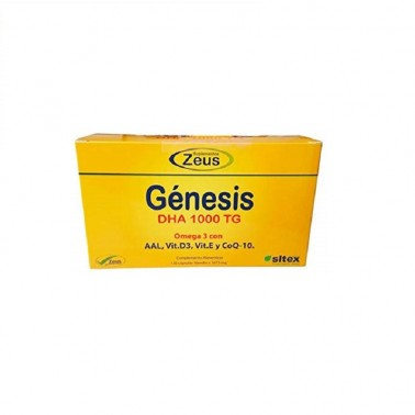 Génesis DHA 1000 TG Omega 3 de Zeus, 60 perlas