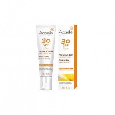 Spray Solar SPF30 BIO Acorelle, 100 ml.