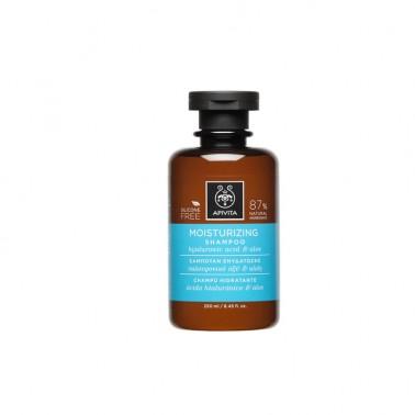 APIVITA Champú hidratante con ácido hialurónico y aloe, 250 ml.