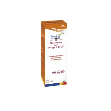 Herbetom Kids Normactive Bioserum con Omega 3DHA, 250 ml.