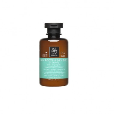 APIVITA Champú equilibrante para raiz grasa y puntas secas, 250 ml