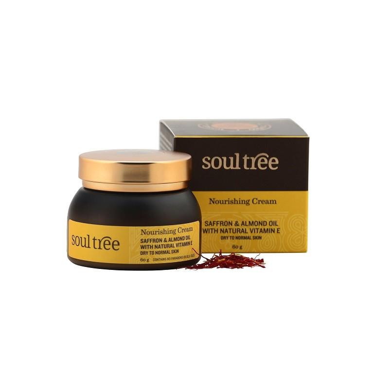 Crema facial nutritiva con azafrán SoulTree, 60 ml.