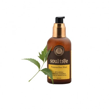 Gel limpiador facial nutglass y neem SoulTree, 120 ml.
