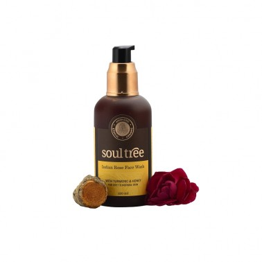 Gel limpiador facial rosas y cúrcuma SoulTree, 120 ml.