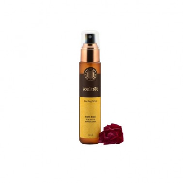 Tónico facial Rosa piel normal y seca SoulTree, 75 ml.