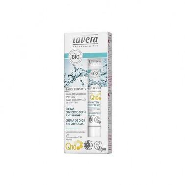 Contorno ojos antiedad Q10 Karite + malva BIO Lavera, 15 ml.
