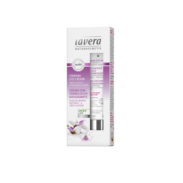 Contorno ojos reafirmante karanka + te blanco BIO Lavera, 15 ml.