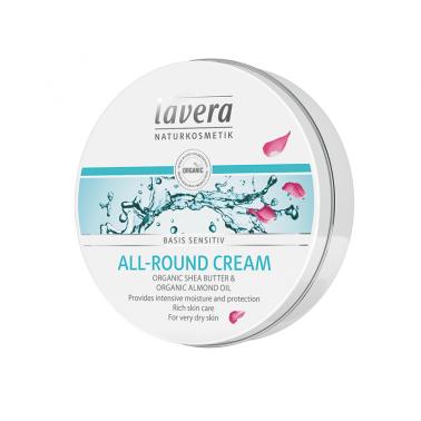 Crema cara y cuerpo karite + almendras BIO Lavera, 150 ml.