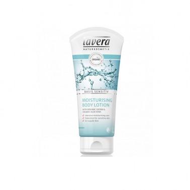 Loción corporal hidratante jojoba + aloe BIO Lavera, 200 ml.