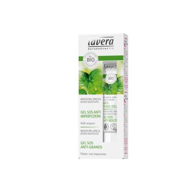 Gel SOS anti acne menta stick BIO Lavera, 15 ml.