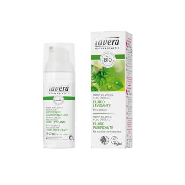 Fluido hidratante purificante menta BIO Lavera, 50 ml.