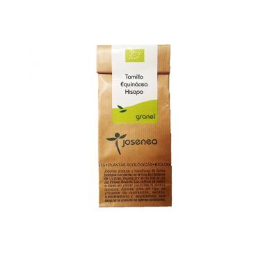 Josenea Tomillo Echinacea Hisopo BIO, bolsa granel 50 grs.