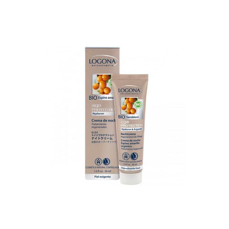 Age Protection crema de noche Bio Logona, 30 ml