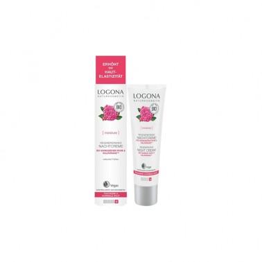 Crema de noche regeneradora rosas Bio Logona, 30 ml.