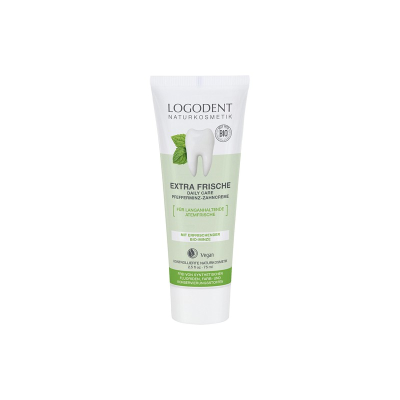 Dentífrico Extra Fresco Bio Logona, 75 ml