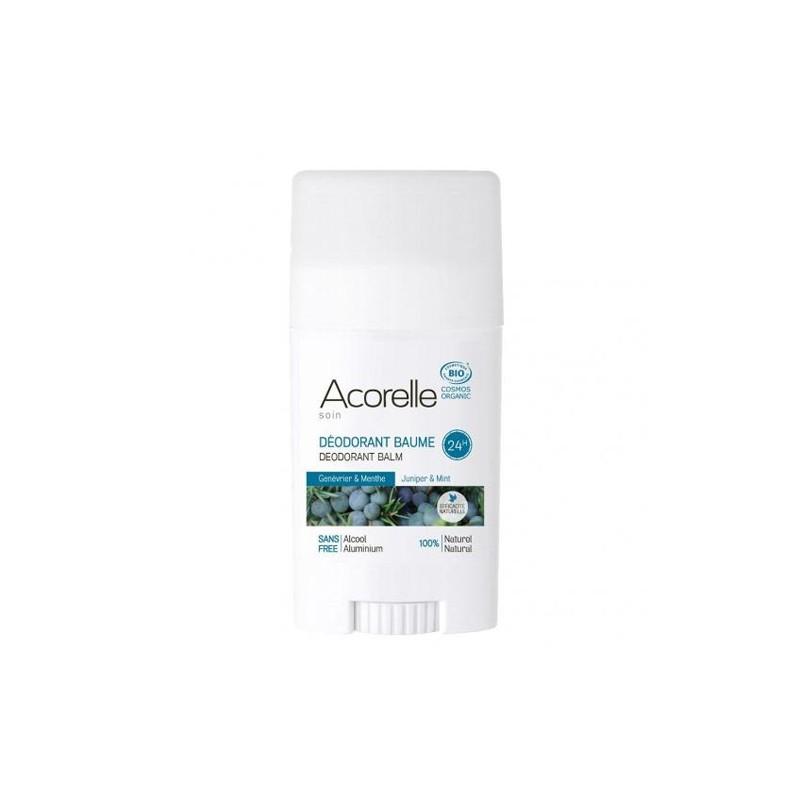 Desodorante Bálsamo Enebro-Menta BIO Acorelle, Stick 40 gr.