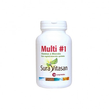 Multi 1 Vitamins y Minerals Sura Vitasan, 60 Comp.