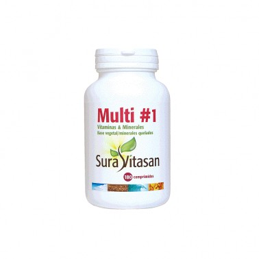Multi 1 Vitamins y Minerals Sura Vitasan, 180 Comp.
