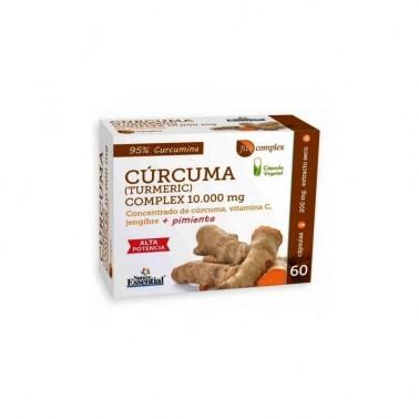 Curcuma 10.000 mg. + Jengibre + Pimienta Nature Essential, 60 cap.