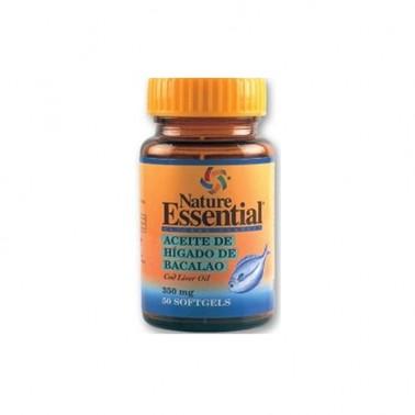 Aceite de Hígado de Bacalao 410 mg. Nature Essential, 50 perlas
