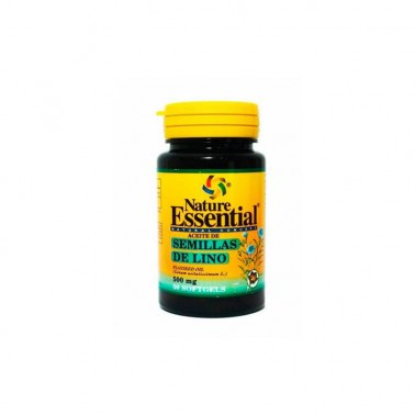 Aceite de Semillas de Lino 500 mg. Nature Essential, 50 perlas