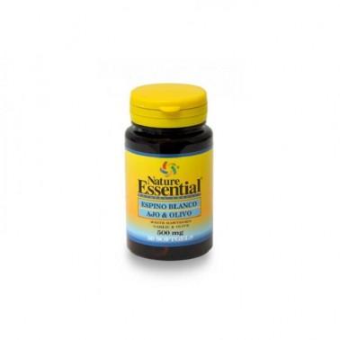 Espino blanco + Ajo + Olivo 500 mg. Nature Essential, 50 perlas
