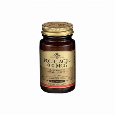 Acido Fólico Folacin 400mcg. Solgar, 100 comp.