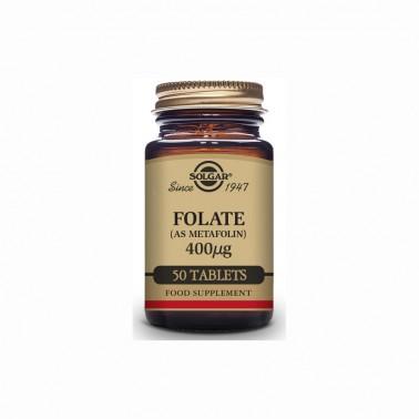 Folato (como metalofin) 400 mcg Solgar