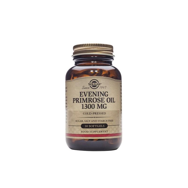 Aceite Prímula Rosa 1300 mg Solgar, 30 perlas