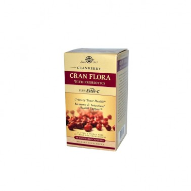 Cran Flora Arándano Rojo con probióticos y Ester-C Solgar