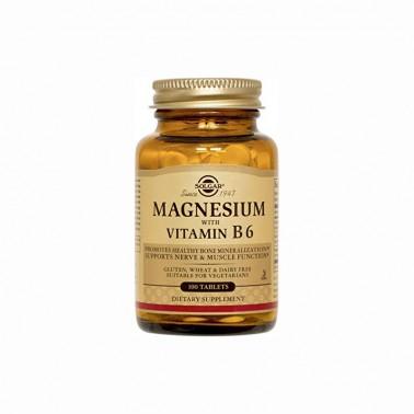 Magnesio + B6 Solgar 100 comp.