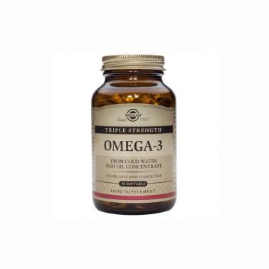 Omega 3 Triple concentración Solgar 50 cap blandas