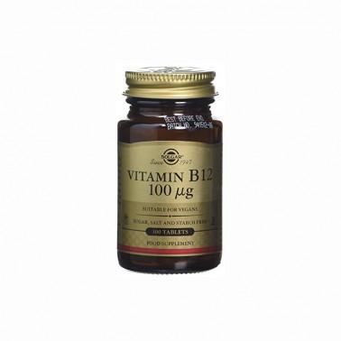 Vitamina B12 (cianocobalamina) 100 mcg. Solgar, 100 comp.