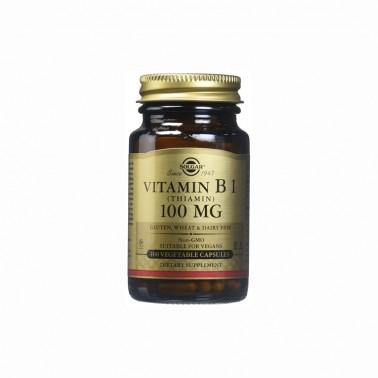 Vitamina B1 100 mg. Solgar, 100 cap.