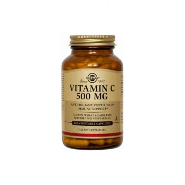 Vitamina C 500 mg. Solgar, 100 vegicaps.