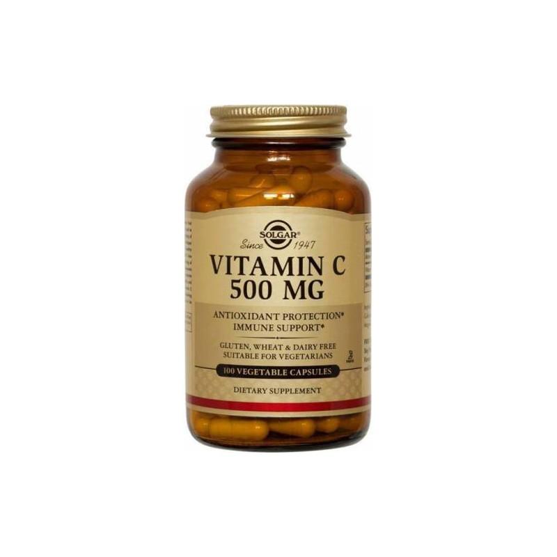 Vitamina C 500 mg. Solgar, 100 vegicaps.