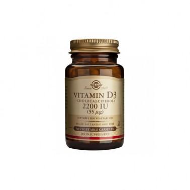Vitamina D3 2200 ui (55mcg) Solgar 50 cap.