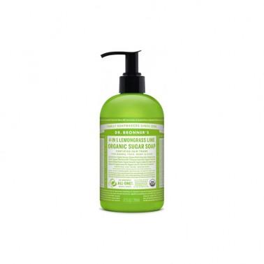 Jabón de azúcar Lemongrass-lima Dr. Bronner´s 355 ml.