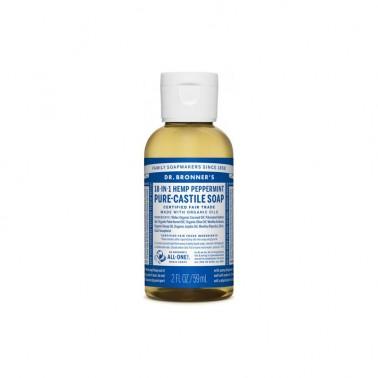 Jabón Líquido Menta Dr. Bronner´s, 60 ml.