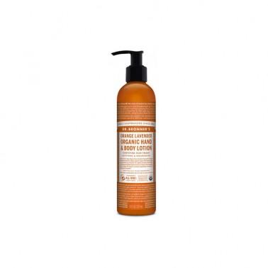 Loción corporal Naranja-Lavanda Dr. Bronner´s, 240 ml.