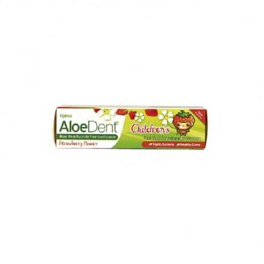Dentífrico Aloe Vera sin fluor (fresa) niños Optima, 50 ml.