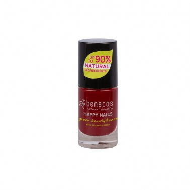 Benecos Laca de uñas Cherry Red, 5 ml.