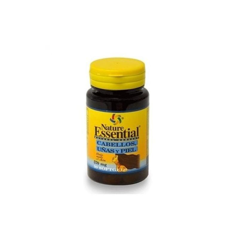 Cabello, Uñas y Piel 540 mg. Nature Essential, 30 perlas