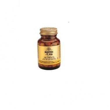 Biotina 300 mcg. Solgar 100 comprimidos