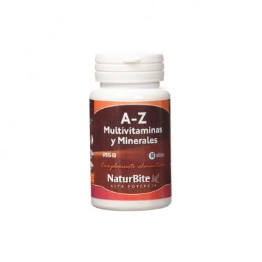 Naturbite A-Z multivitaminas y minerales,  60 comp.