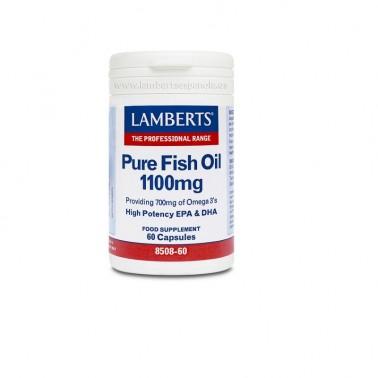 Aceite de Pescado Puro-Omega 3 Alta Potencia Lamberts, 60 perlas